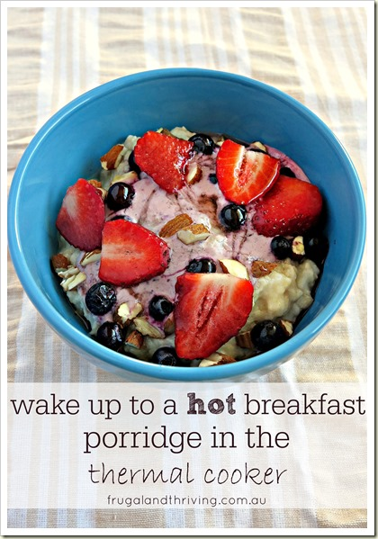 Wake up to Porridge cooked in your own DIY thermal cooker | Frugal and Thriving