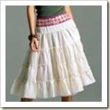 Tiered peasant skirt from Totally Stichen'   Frugal and Thrivng