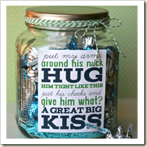 Treat jar from My Sister's Suitcase | Frugal and Thriving Round Up