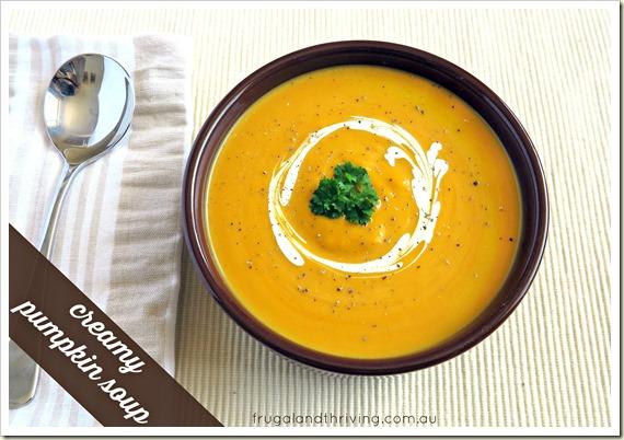 creamy pumpkin soup 2