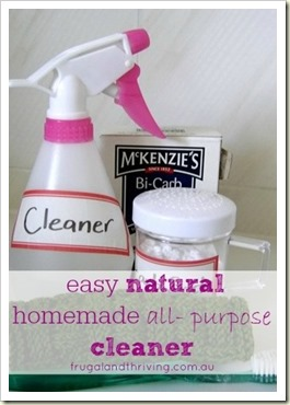 easy natural homemade all purpse cleaner | Frugal and Thriving