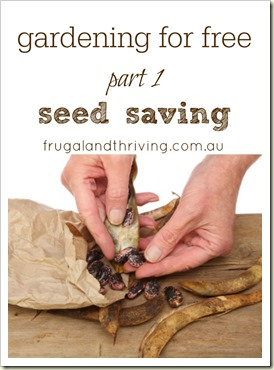 gardening for free - seed saving | Frugal and Thriving