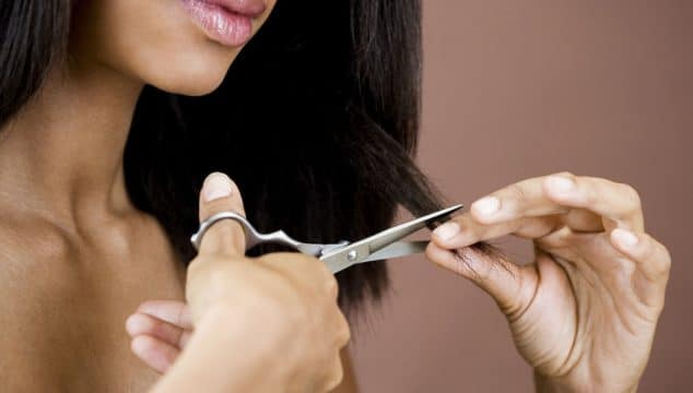 how to trim your own split ends and save on hairdressing costs
