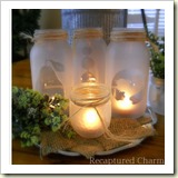 mason jar lights from Recaptured Charm | Frugal and Thriving