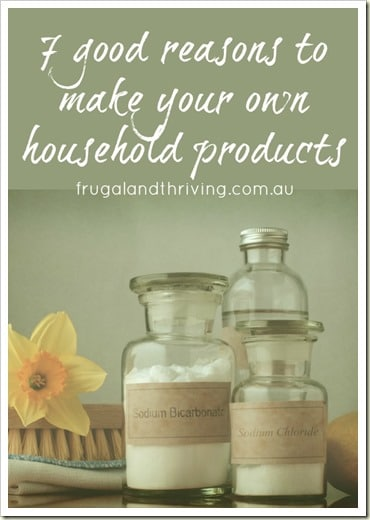 7 good reasons to make your own household products
