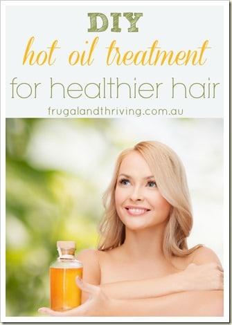 diy hot oil treatment for healthier hair