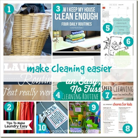 make cleaning easier