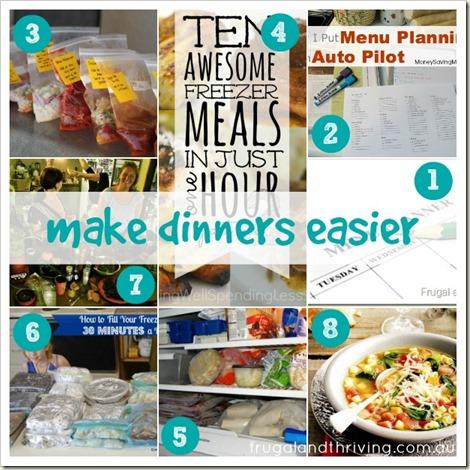 make dinners easier