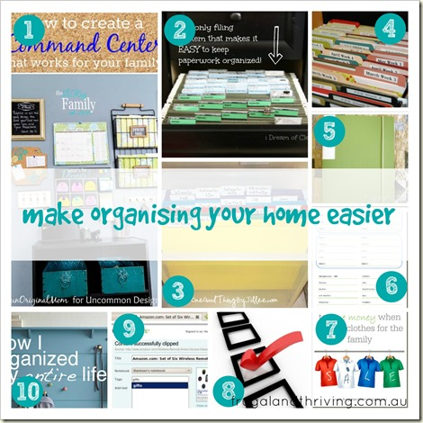 make organising your home easier