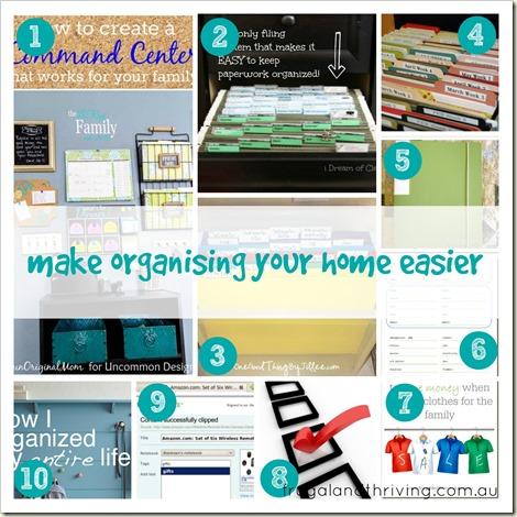 make organising your home easier