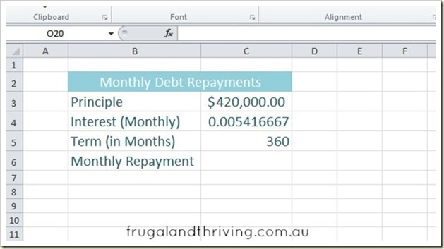 1. Calculating debt repayment with PMT