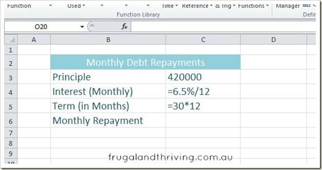 2. Calculating debt repayment with PMT