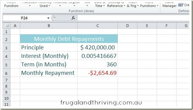 3. Calculating debt repayment with PMT