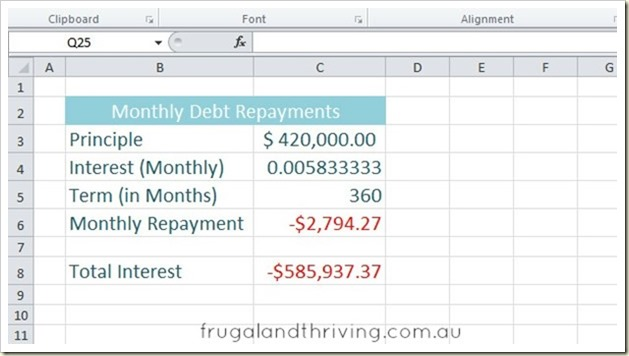 5. Calculating debt repayment with PMT