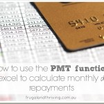 using the PMT function in Excel to calculate monthly loan repayments
