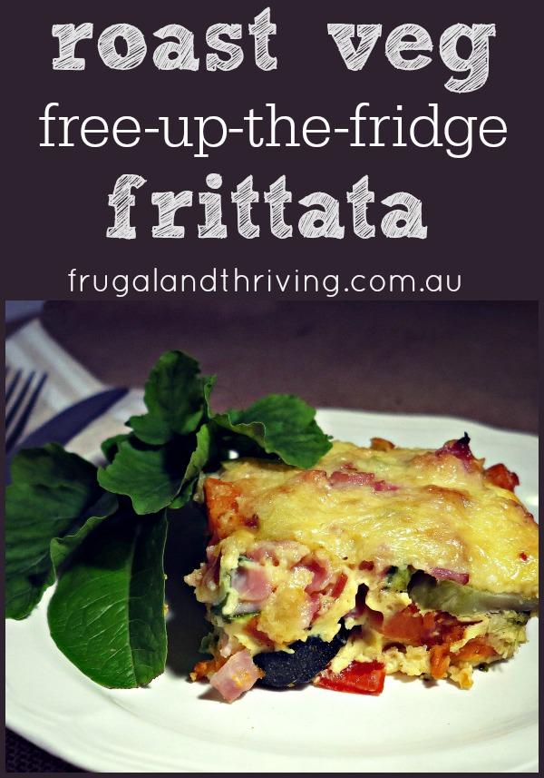 """Free-Up-The-Fridge"" Roast Vegetable Frittata"