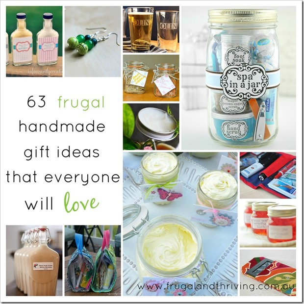 63 Frugal Handmade Gift Ideas that Everyone will Love | Frugal and Thriving