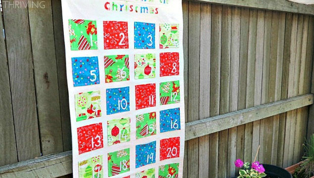 extend the fun of Christmas with a homemade advent calendar {tutorial}