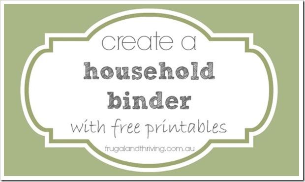 banking information printable for household binder