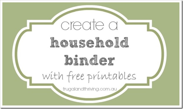 banking information printable for household binder
