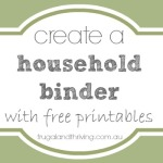 creating a household binder {banking information printable}