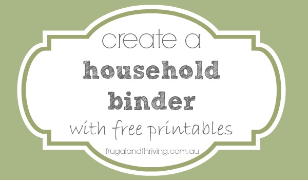 creating a household binder {banking information printable}
