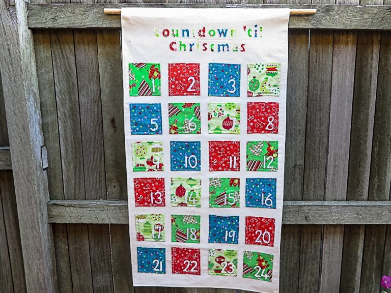 Extend the Fun of Christmas with a DIY Fabric Advent Calendar {Tutorial}