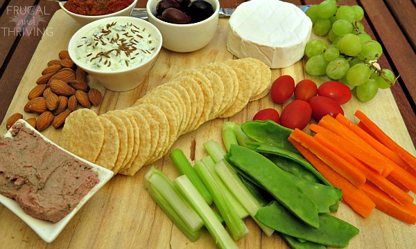 entertaining for less–create an easy nibbles platter without breaking the budget
