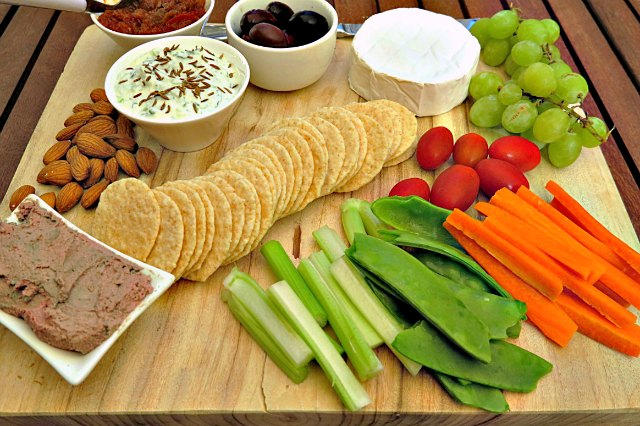 nibbles platter for frugal entertaining