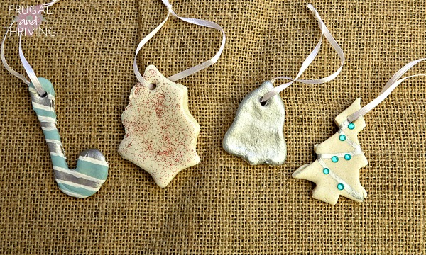 make personal inexpensive christmas decorations with salt dough