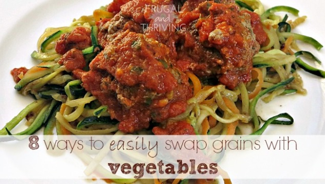 eat more veggies: 8 ways to *easily* swap grains with vegetables
