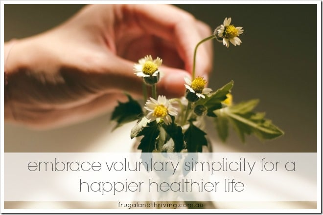embrace voluntary simplicity