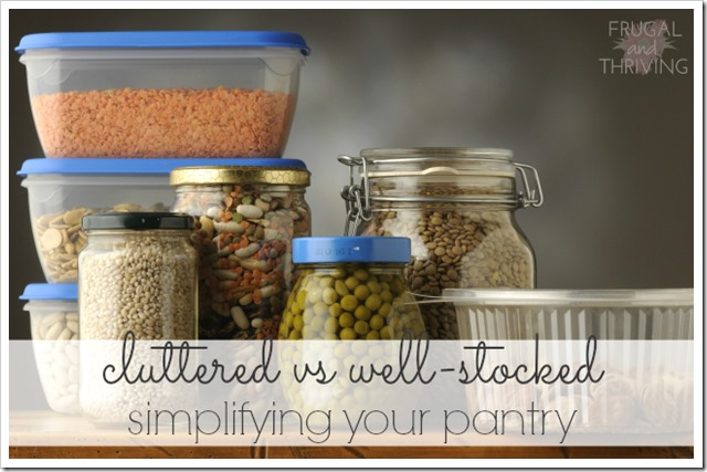 simplifying your pantry 1