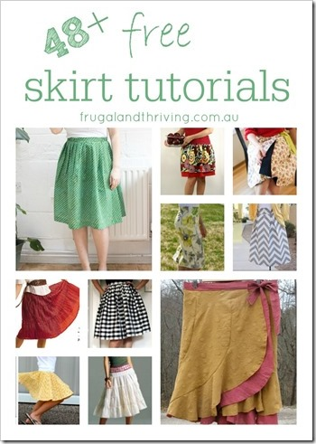 48 Free Skirt Tutorials