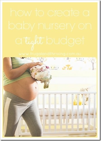 create a baby nursery on a tight budget pin