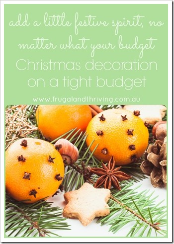 how to decorate for christmas on a tight budget