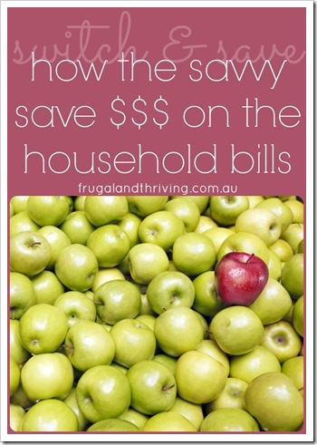 switch and save on the household bills