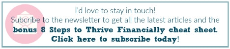 Subscribe to the Frugal and Thriving Newsletter