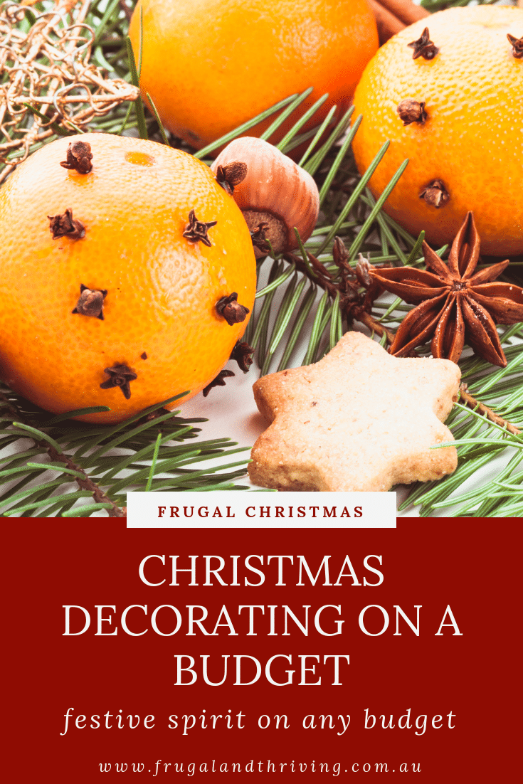 Get into the Christmas spirit, no matter what your budget is, with these cheap and free ideas for Christmas decorations on a budget. #frugalChristmas