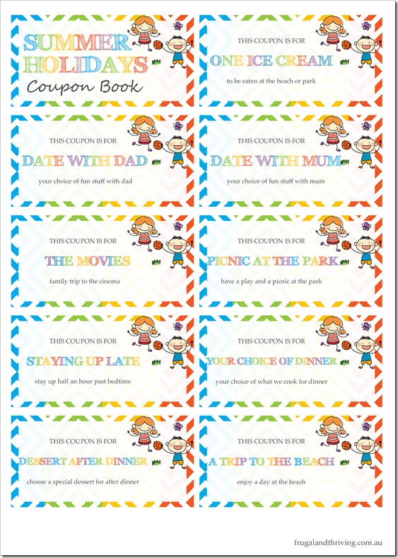 Coupon Book Sheet