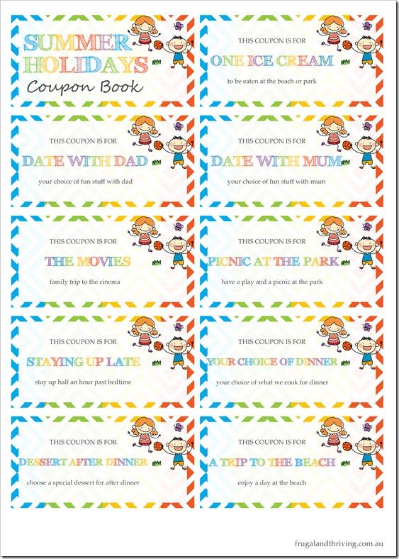 Coupon Book Sheet