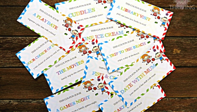 the gift that lasts all summer holidays: coupons for kids {free printable}