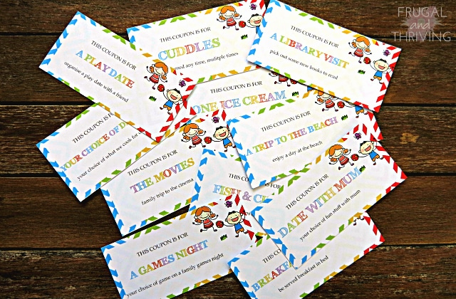 gift coupons for kids - free printable