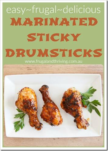 marinated sticky drumsticks