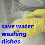 save water washing dishes