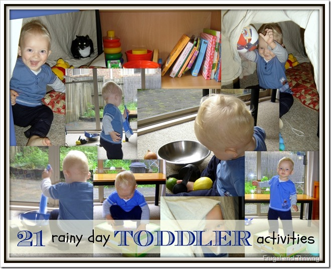 21 frugal rainy day toddler activities