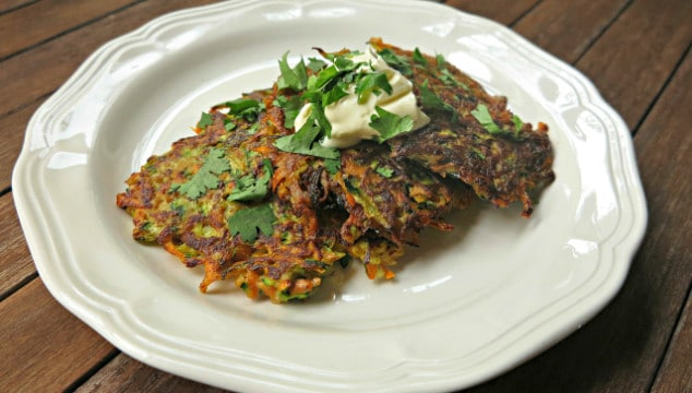 Zucchini and Sweet Potato Fritters for a Healthy Light Meal