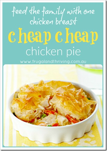 chicken breast and vegetable pie