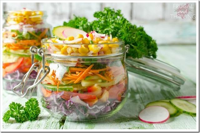 alternatives to cling wrap - glass jar storage