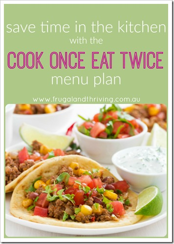 cook once eat twice menu plan